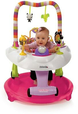 Kolcraft Baby Sit and Step 2-in-1 Activity Center Pink Bear Hugs Walker Girl