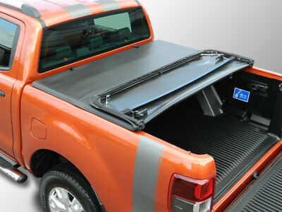 Ford Ranger 2012 On Double Cab Soft Tri-Fold Tonneau Cover
