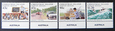 1991 Christmas Island Stamps - Policing on Christmas Island - Set of 4-Tabs MNH