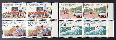 1991 Christmas Island Stamps - Policing on Christmas Island - Set of 4x2-Tab MNH