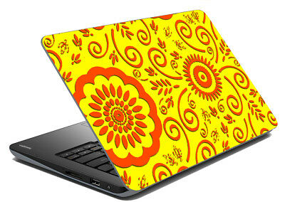 Yellow Design Laptop Skin Removable Decal Sticker Protection Skin 15-14 Inch
