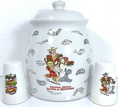 Blondie Cookie Jar Canister w Salt & Pepper Shakers DAGWOOD Universal Studios