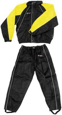 Frogg Toggs Hogg Togg Motorcycle RainSuit Black/Yellow LG/Large