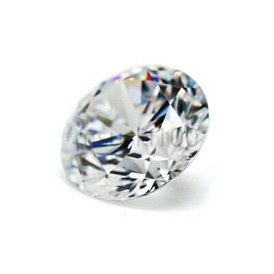 Cubic Zirconia Clear Crystal White CZ Round Brilliant loose bead size 2mm - 20mm