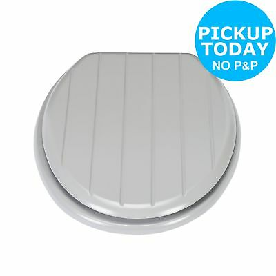 Argos Home Shaker Style Moulded Wood Toilet Seat - Grey.