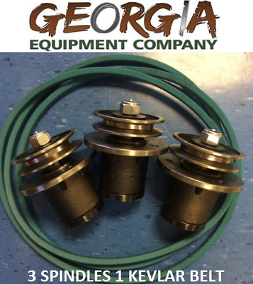 3 6Ft King Kutter 502303 Spindle 167148 Kevla Belt Rebuild Your Finishing Mower