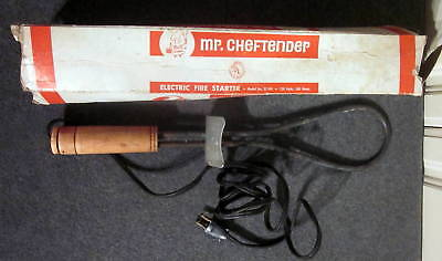 Vintage Mr Cheftender Electric Fire Starter BBQ Charcoal Barbecue Grill Works