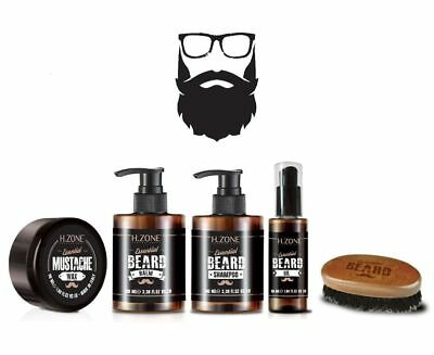 Kit Barba e Baffi H-Zone Essential Beard - Renèe Blanche + Spazzola