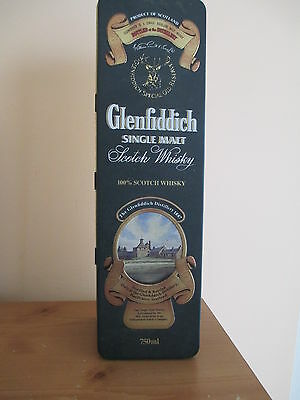 GLENFIDDICH SCOTCH WHISKEY COLLECTORS TIN & Paper insert, MADE IN UNITED KINGDOM