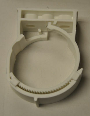 """sns101-115HS, White Pipe Hanger for 4"""" PVC pipe and conduit  Nylon"""