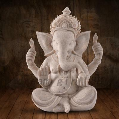 Ganesha Ganesh Maharaaj Hindu GOD of Success Statue Antique Mini Good Luck Hot