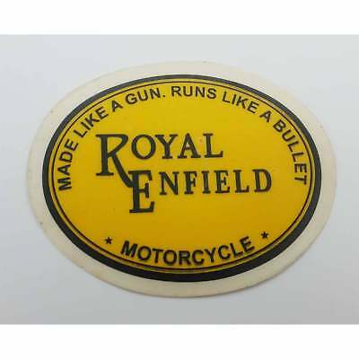 ROYAL ENFIELD Coat of Arm Cannon Red Gold Toolbox mudguard Pannier Decal Sticker