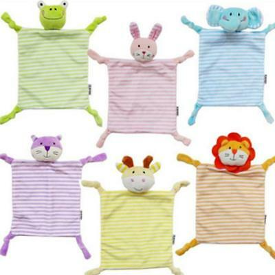 Newborn Infant Baby Soft Sleep Appease Towel Blanket Animal Doll Plush Toy New S