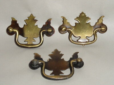 3 Vintage Allison Cabinet Door Drawer Handle Pull Knob Ornate  Japan Brass