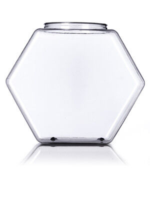 NEW Clear 197 Fl Oz Hexagon Container Storage Display PVC Plastic Candy Hex Jar