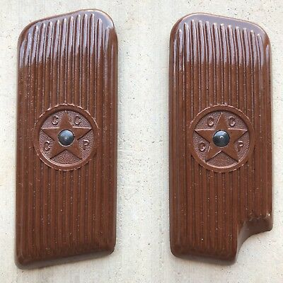 WWII.ORIGINAL!Tokarev TT 33 GRIPS WITH INSERTS RUSSIAN SOVIET!Color brown