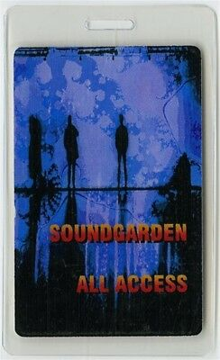 Soundgarden 1996 Down on the Upside Concert Tour Laminated Backstage Pass AA