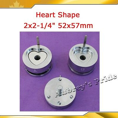 Heart Shape 53x57.5mm Interchangeable Die Mould for Badge Button Maker HOT SALE