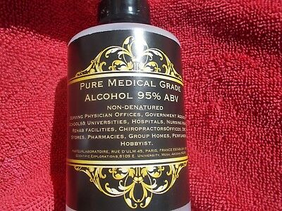 ALCOHOL 32 OZ (1 QUART)  NON denatured Alcohol 95% Pure Medical Grade Alcohol