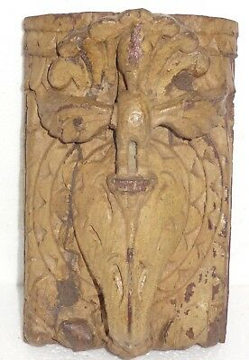 1900s Architectural Wood Corbel redefine wall fixing Carved bird Elephant trunk