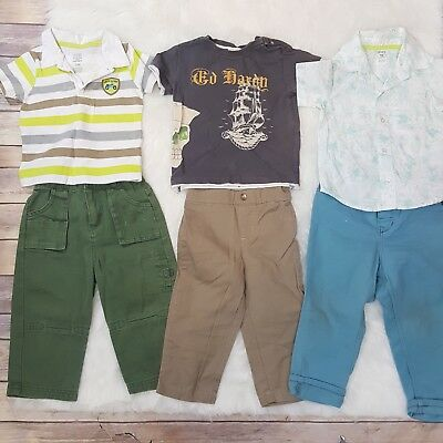 Baby Boy Toddler 18 mo Lot 6pc Bundle Ed Hardy Carters H&M Fisher Price