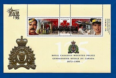 CANADA Canadian ITALIA 98' postage stamps souvenir sheet RCMP 125th MNH C