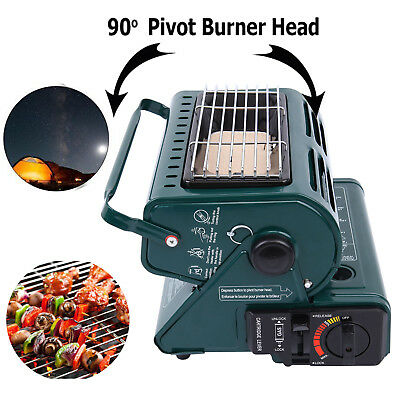 Double Use Portable Butane Gas Heater Camping Tent Hiking Outdoor Survival Heat