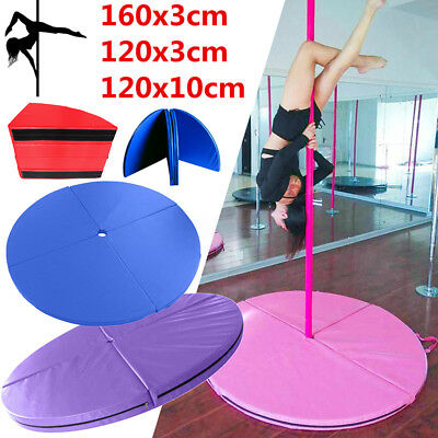 120/160cm Diameter Portable Dance Pole Safety Mat Home Gym Exercise Fitness Pad