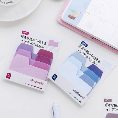 60 Pages Sticky Notes Self Adhesive Paper Note Memo Pad Stationery Supply