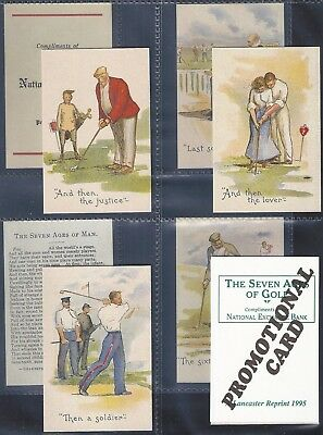 Lancaster Reprinted-Full Set- Seven Ages Of Golf (Promotional Card X9 Cards) Exc
