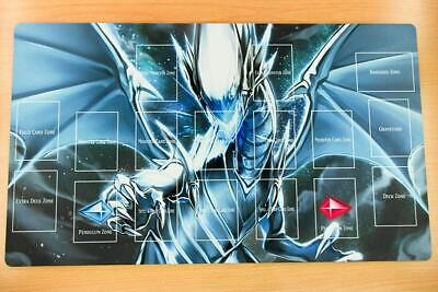 F2311+ Free Mat Bag Yugioh Blue-Eyes White Dragon TCG Custom Playmat With Zones