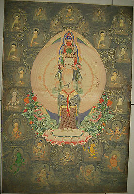 Rare antique chinese museum painting scroll the Buddha By Ding Guanpeng丁观鹏