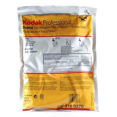 KODAK Dektol Black  White Paper Developer, Powder to Make 1 Gallon. #5160270