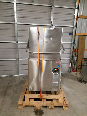 Hobart AM15 High Temp Dish Machine Dishwasher Tested 480 Volt Single Rack