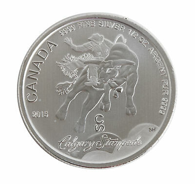 Tube of 20 - 2015 1/2oz Silver Canadian Calgary Stampede .9999