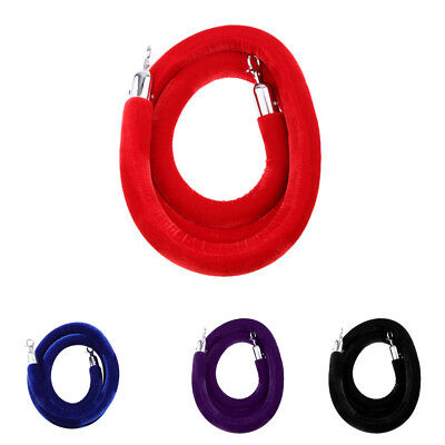 78''/120'' Barrier Rope Wall Plate Crowd Control Stanchion Queue Velvet Rope