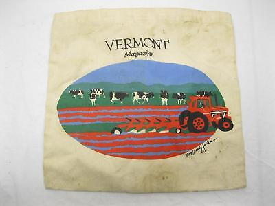 1989 Vintage Woody Jackson Tote Bag Cow Old Vermont Magazine Tractor