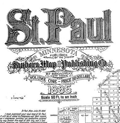 Saint Paul, Minnesota~ Sanborn Map© sheets made in 1885, 1888 ~with 160 maps