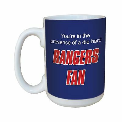 Tree-Free Greetings lm44187 Rangers Hockey Fan Ceramic Mug with Full-Sized Ha...