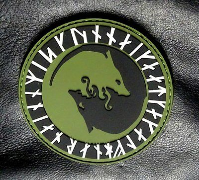 "Viking Odin ""Úlfhédnar No Mercy Wolf Odin In God Patch (HOOK-PVC Rubber)"