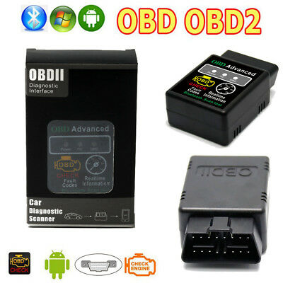 OBD2 ELM327 V1.5 Bluetooth Car Scanner Android Torque Diagnostic Scan Tool
