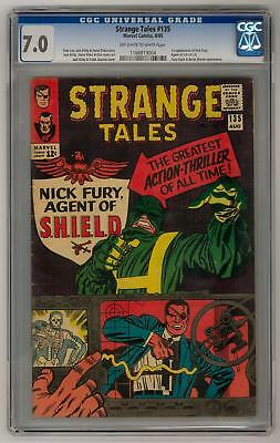 Strange Tales #135 CGC 7.0 (OW-W) 1st Nick Fury Agent of SHIELD