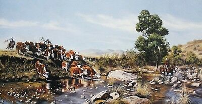 North Fork Road Pat Baker Signed-Numbered Limited Edition Western Print 40x22