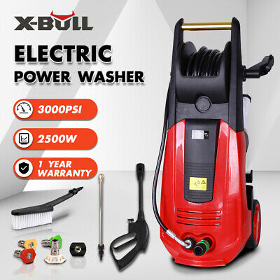 X-BULL 3000PSI Electric High Pressure Washer 2000W 1.6 GPM Jet Sprayer New Red