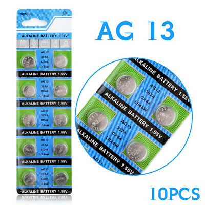 Alkaline AG13 1.55V Coin Cell Battery CX44 357A LR44W A76 L1154 Button Battery