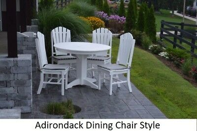 A&L Furniture Co. Amish-Made Poly 5pc Dining Set - Table & Adirondack Chairs