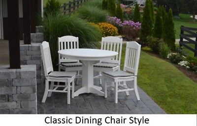 A&L Furniture Co. Amish-Made Poly 5pc Dining Set - Table & Classic Chairs
