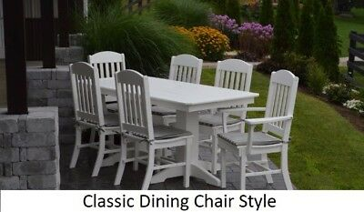 A&L Furniture Co. Amish-Made Poly 7pc Dining Set - Table & Classic Chairs
