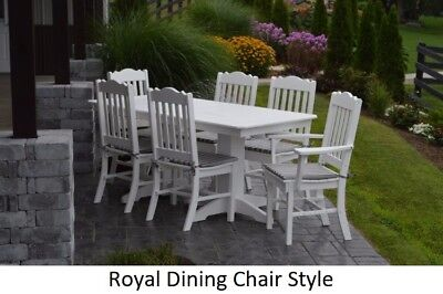 A&L Furniture Co. Amish-Made Poly 7pc Dining Set - Table & Royal Chairs