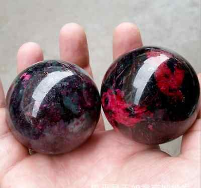 50MM Natural jade / beautiful peach jade / handball a pair / fitness ball